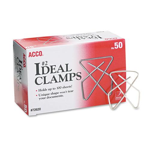 Ideal Clamps, Small (No. 2), Silver, 50/Box. Picture 1
