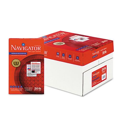 Premium Multipurpose Copy Paper, 97 Bright, 20lb, 8.5 x 14, White, 500 Sheets/Ream, 10 Reams/Carton. Picture 1