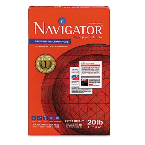 Premium Multipurpose Copy Paper, 97 Bright, 20lb, 8.5 x 14, White, 500 Sheets/Ream, 10 Reams/Carton. Picture 3