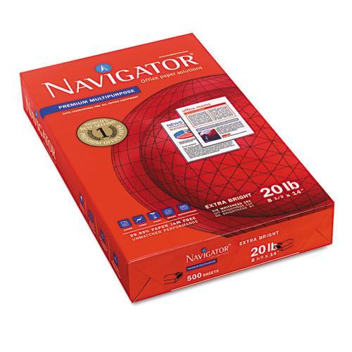 Premium Multipurpose Copy Paper, 97 Bright, 20lb, 8.5 x 14, White, 500 Sheets/Ream, 10 Reams/Carton. Picture 2