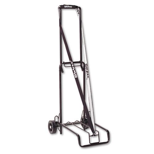 Luggage Cart, 125 lb Capacity, 13 x 10 Platform, Black Steel. Picture 1