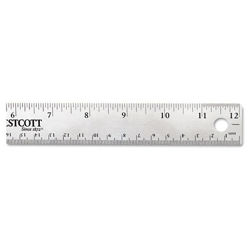 """Stainless Steel Office Ruler With Non Slip Cork Base, 12"""". Picture 6"""