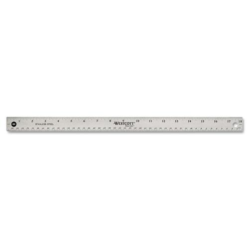 """Stainless Steel Office Ruler With Non Slip Cork Base, 18"""". Picture 4"""