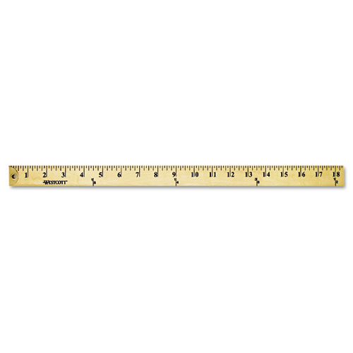 """Wood Yardstick with Metal Ends, 36"""". Picture 1"""