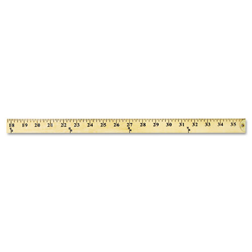 """Wood Yardstick with Metal Ends, 36"""". Picture 2"""