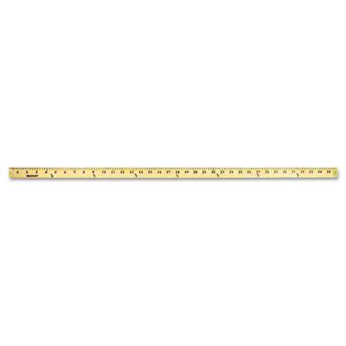 """Wood Yardstick with Metal Ends, 36"""". Picture 3"""