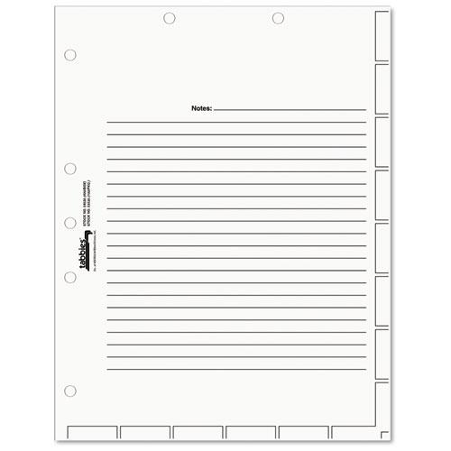 Medical Chart Index Divider Sheets, 11 x 8.5, White, 400/Box. Picture 1