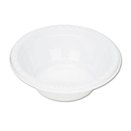 Plastic Dinnerware, Bowls, 5oz, White, 125/Pack. Picture 1