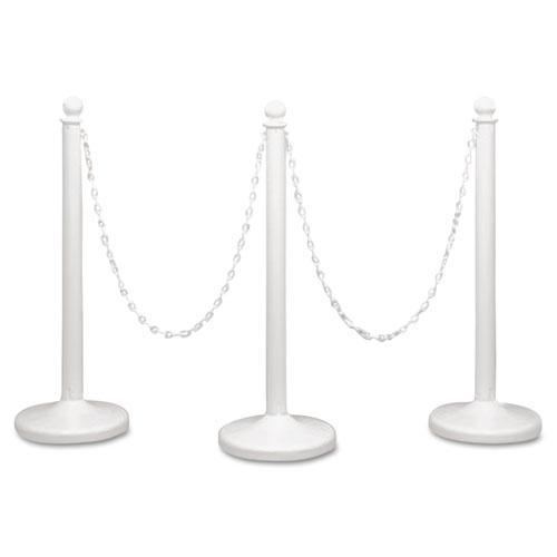 Crowd Control Stanchion Chain, Plastic, 40ft, White. Picture 2