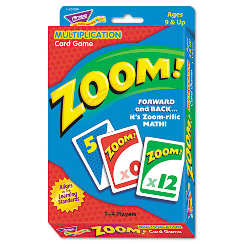 Zoom Math Card Game, Ages 9 and Up. Picture 1