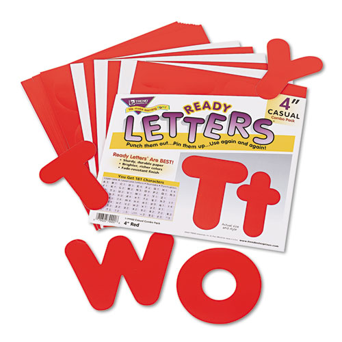 """Ready Letters Casual Combo Set, Red, 4""""h, 182/Set. Picture 1"""