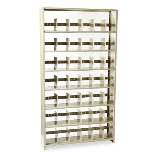 Snap-Together Steel Seven-Shelf Closed Starter Set, 48w x 12d x 88h, Sand. Picture 2