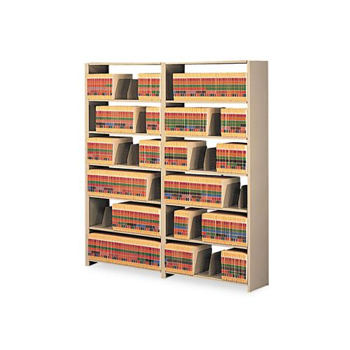 Snap-Together Steel Seven-Shelf Closed Starter Set, 48w x 12d x 88h, Sand. Picture 1