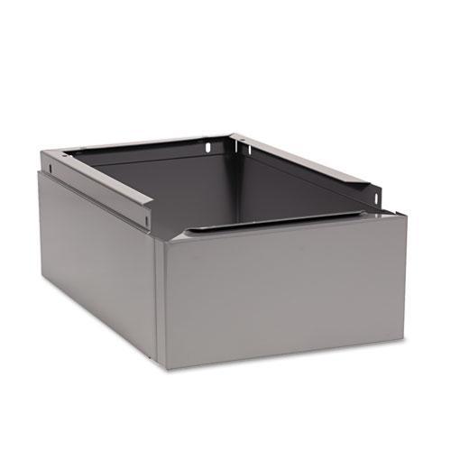 Optional Locker Base, 12w x 18d x 6h, Medium Gray. Picture 1