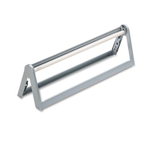 """Paper Roll Cutter for Rolls Up to 9"""" in Diameter, 24"""" Wide, Steel, Light Gray. Picture 1"""