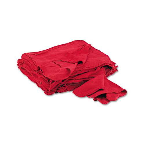 Red Shop Towels, Cloth, 14 x 15, 50/Pack. Picture 1