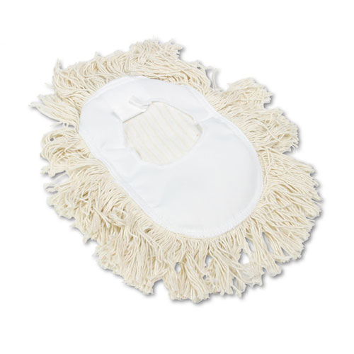 Wedge Dust Mop Head, Cotton, 17 1/2l x 13 1/2w, White. Picture 1