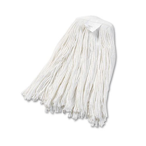 Cut-End Wet Mop Head, Rayon, No. 20, White. Picture 1