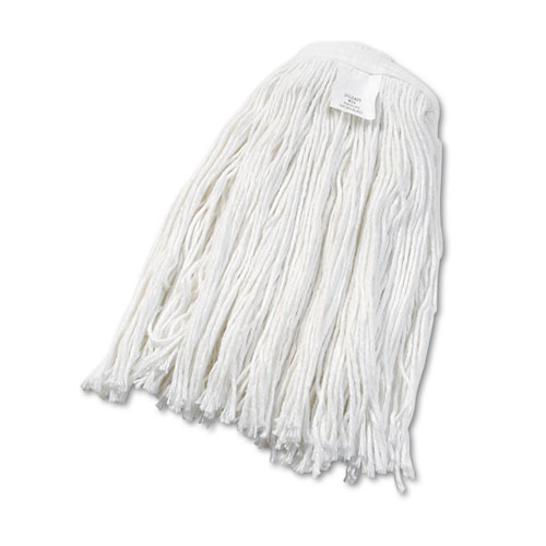 Cut-End Wet Mop Head, Rayon, No. 24, White, 12/Carton. Picture 1