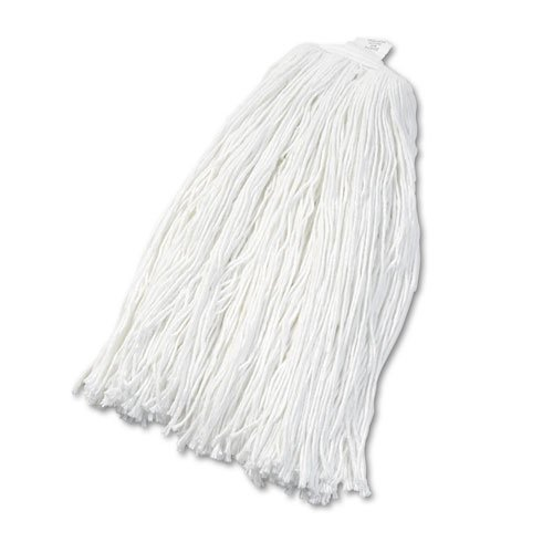 Cut-End Wet Mop Head, Rayon, No. 32, White. Picture 1