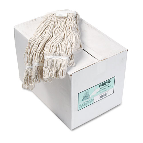 Pro Loop Web/Tailband Wet Mop Head, Cotton, 12/Carton. Picture 1