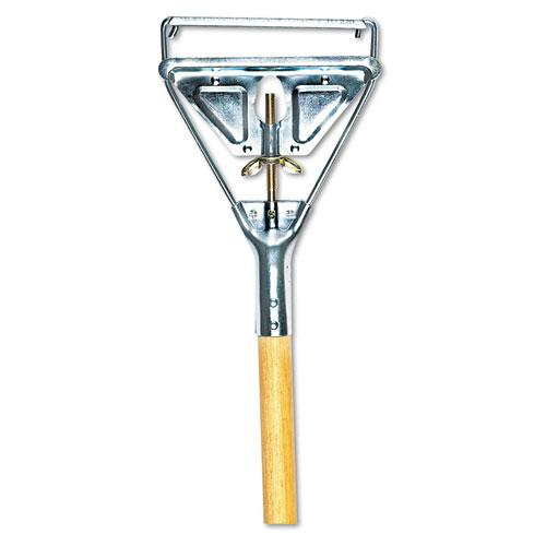 """Quick Change Metal Head Mop Handle for No. 20 and Up Heads, 54"""" Wood Handle. Picture 1"""