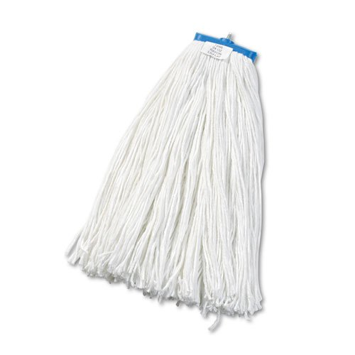 Cut-End Lie-Flat Wet Mop Head, Rayon, 24oz, White. The main picture.