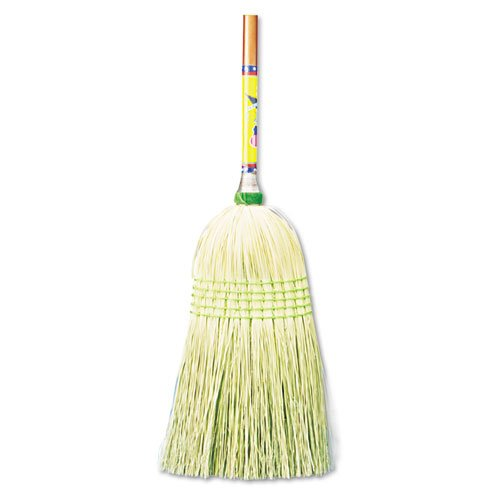"Parlor Broom, Corn Fiber Bristles, 55"" Wood Handle, Natural, 12/Carton. Picture 1"
