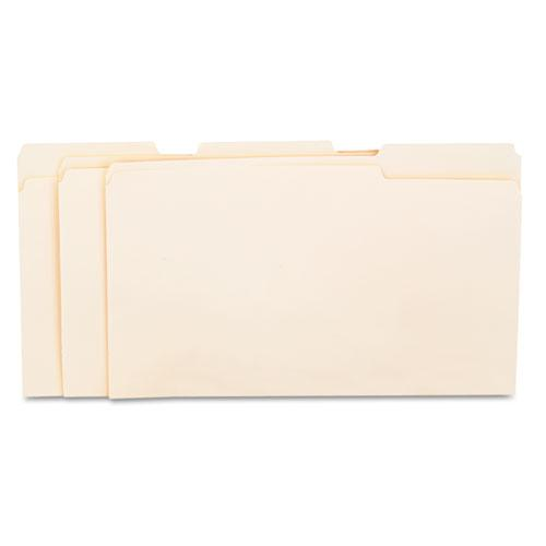 Top Tab Manila File Folders, 1/3-Cut Tabs, Assorted Positions, Legal Size, 11 pt. Manila, 100/Box. Picture 2