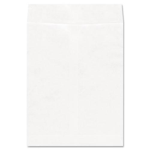 Deluxe Tyvek Envelopes, #13 1/2, Squar Flap, Self-Adhesive Closure, 10 x 13, White, 100/Box. Picture 1
