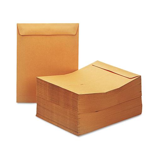 Catalog Envelope, #13 1/2, Square Flap, Gummed Closure, 10 x 13, Brown Kraft, 250/Box. Picture 2