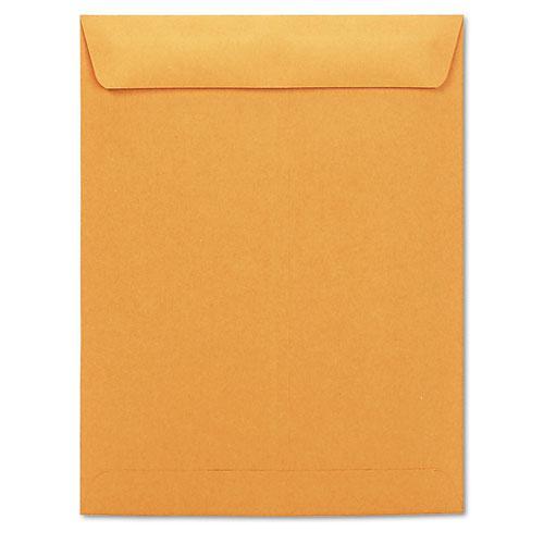 Catalog Envelope, #13 1/2, Square Flap, Gummed Closure, 10 x 13, Brown Kraft, 250/Box. Picture 1