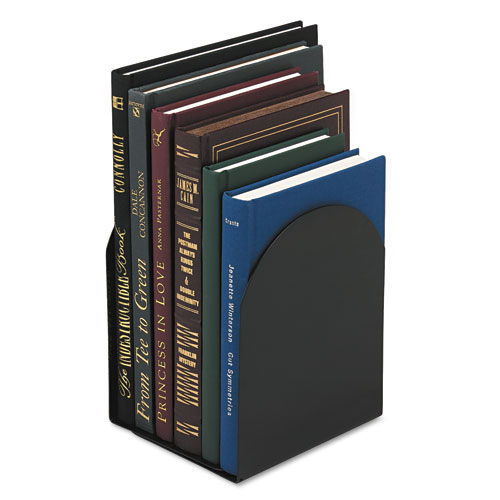 Magnetic Bookends, 6 x 5 x 7, Metal, Black. Picture 2