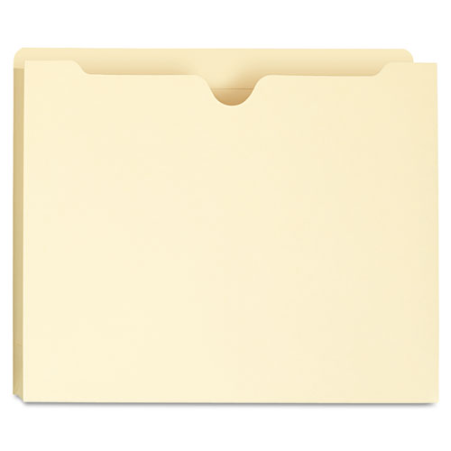 Deluxe Manila File Jackets with Reinforced Tabs, Straight Tab, Letter Size, Manila, 50/Box. Picture 1
