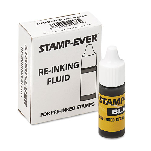 Refill Ink for Clik! and Universal Stamps, 7 mL-Bottle, Black. Picture 2