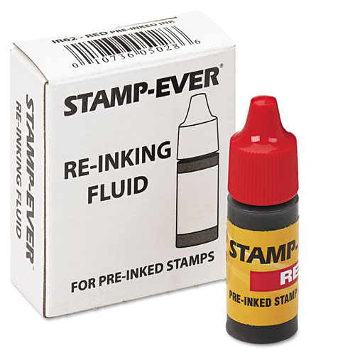 Refill Ink for Clik! and Universal Stamps, 7 mL-Bottle, Red. Picture 2
