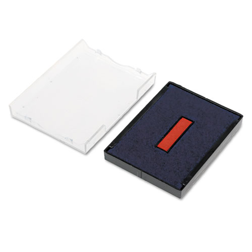 Trodat T4729 Dater Replacement Pad, 1 9/16 x 2, Blue/Red. Picture 3