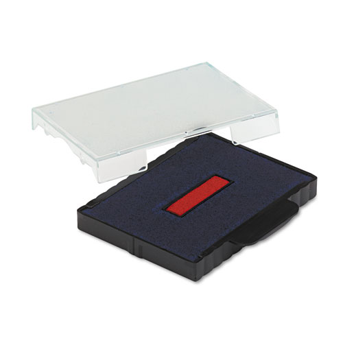 T5470 Dater Replacement Ink Pad, 1 5/8 x 2 1/2, Blue/Red. Picture 3
