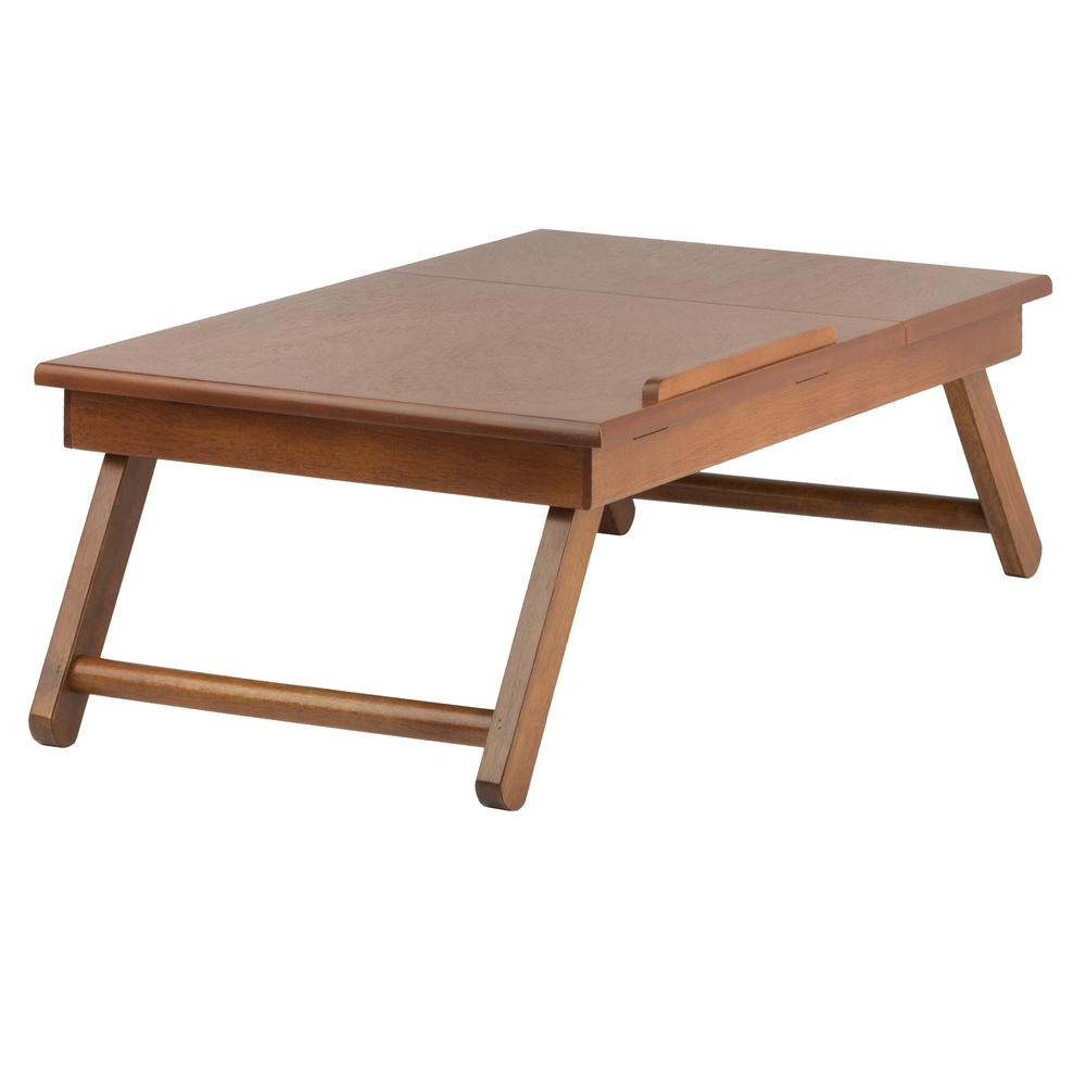 Anderson Lap Desk, Flip Top with Drawer, Foldable Legs. Picture 4
