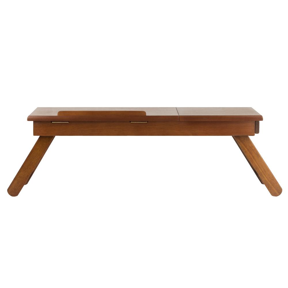Anderson Lap Desk, Flip Top with Drawer, Foldable Legs. Picture 6