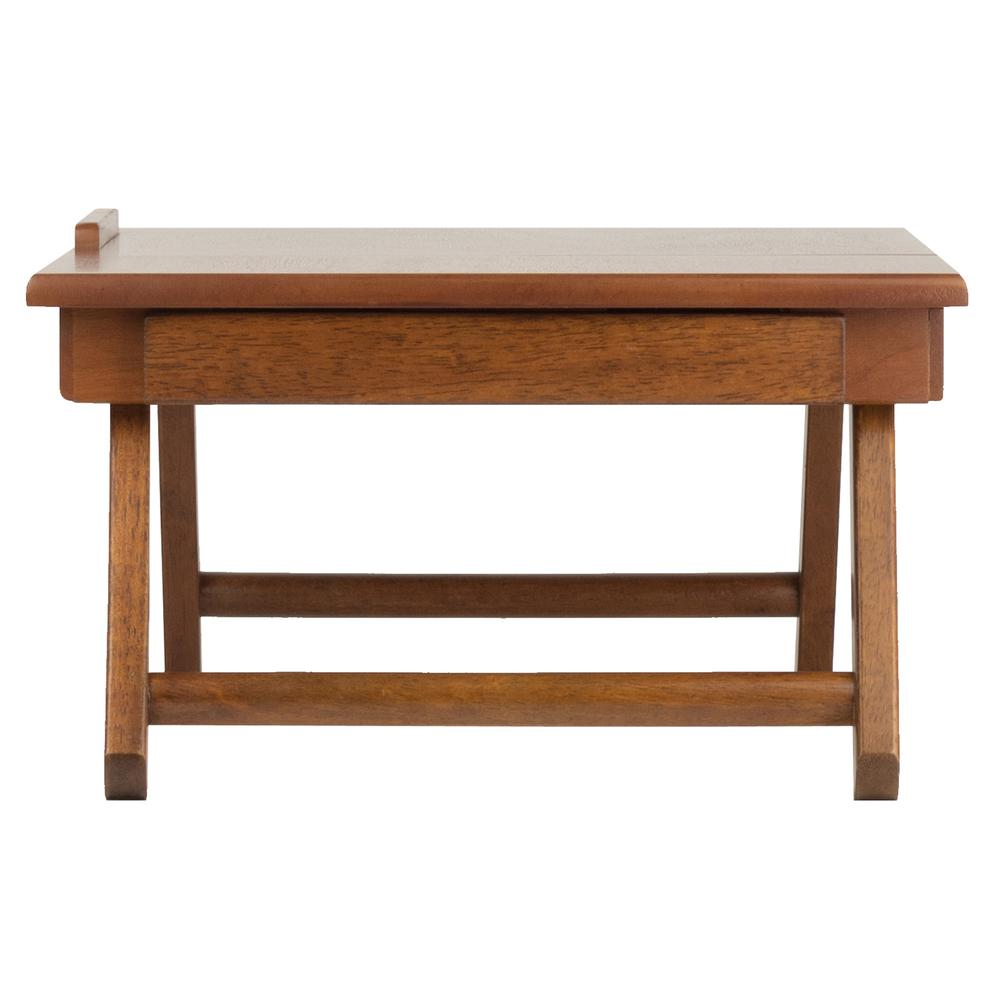 Anderson Lap Desk, Flip Top with Drawer, Foldable Legs. Picture 7