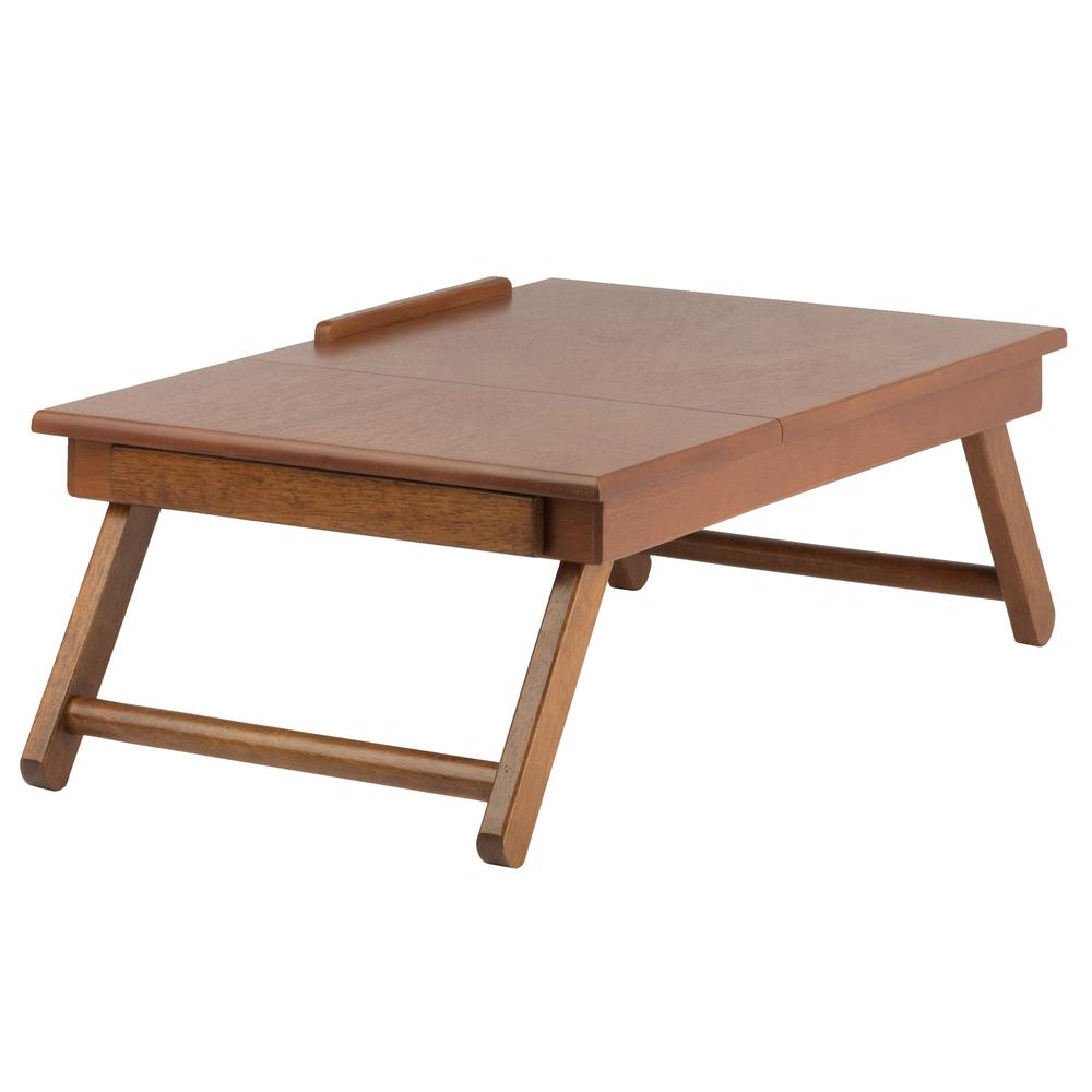 Anderson Lap Desk, Flip Top with Drawer, Foldable Legs. Picture 5
