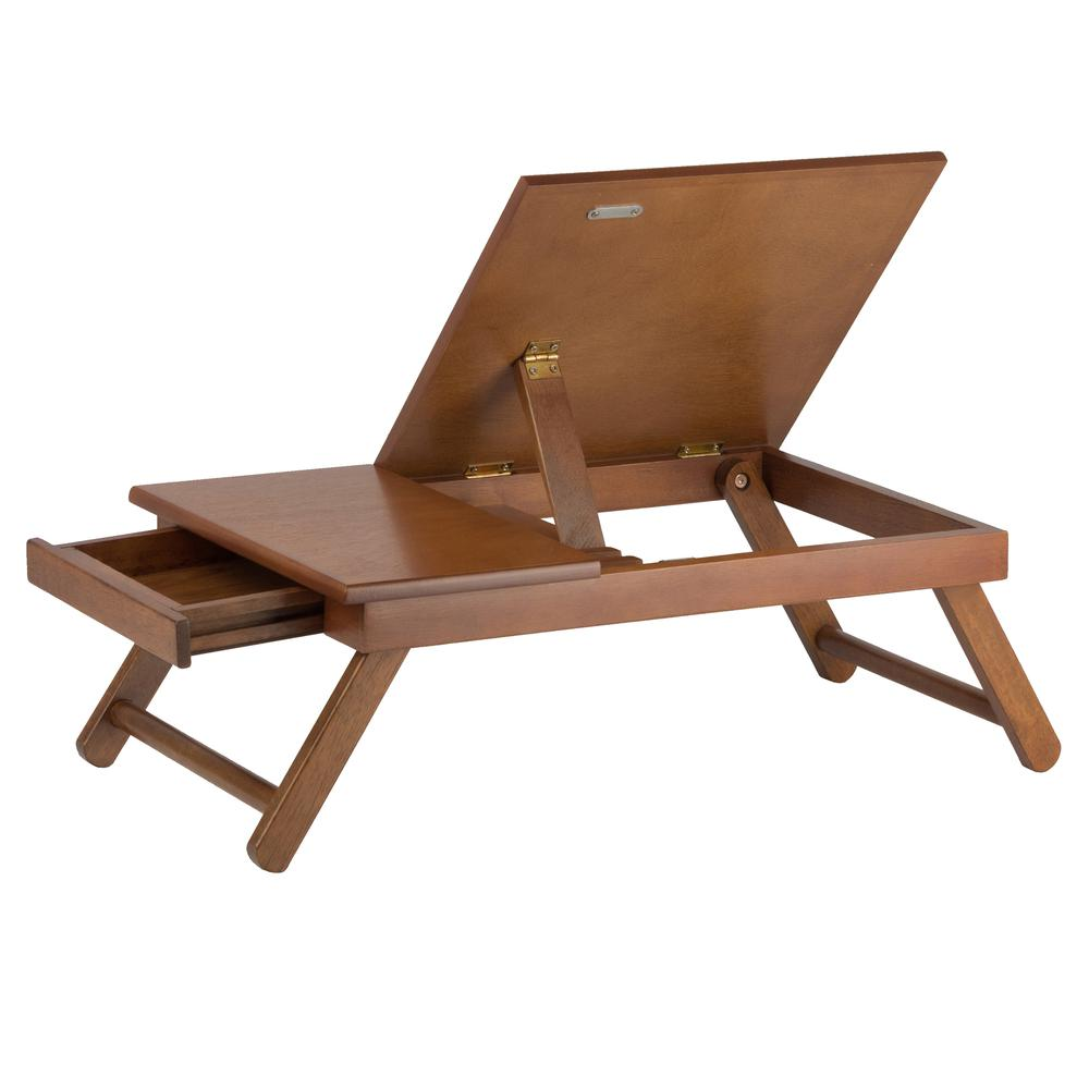 Anderson Lap Desk, Flip Top with Drawer, Foldable Legs. Picture 3