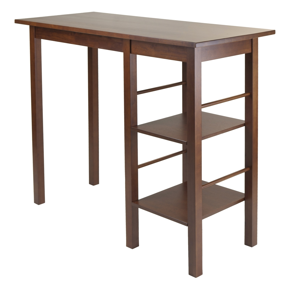Egan Breakfast Table with 2 Side Shelves. Picture 1