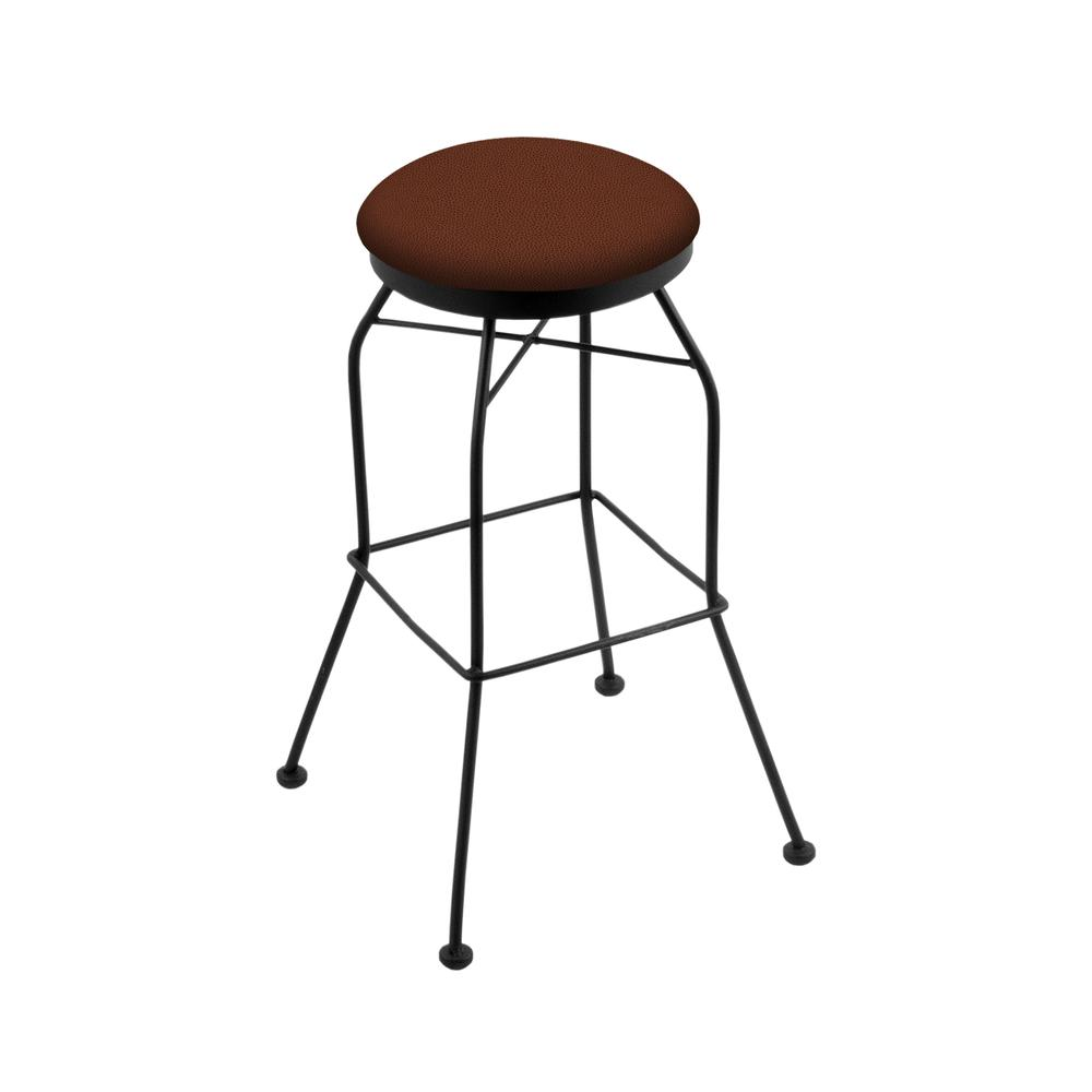 "3020 30"" Swivel Bar Stool with Black Wrinkle Finish and Rein Adobe Seat. Picture 1"