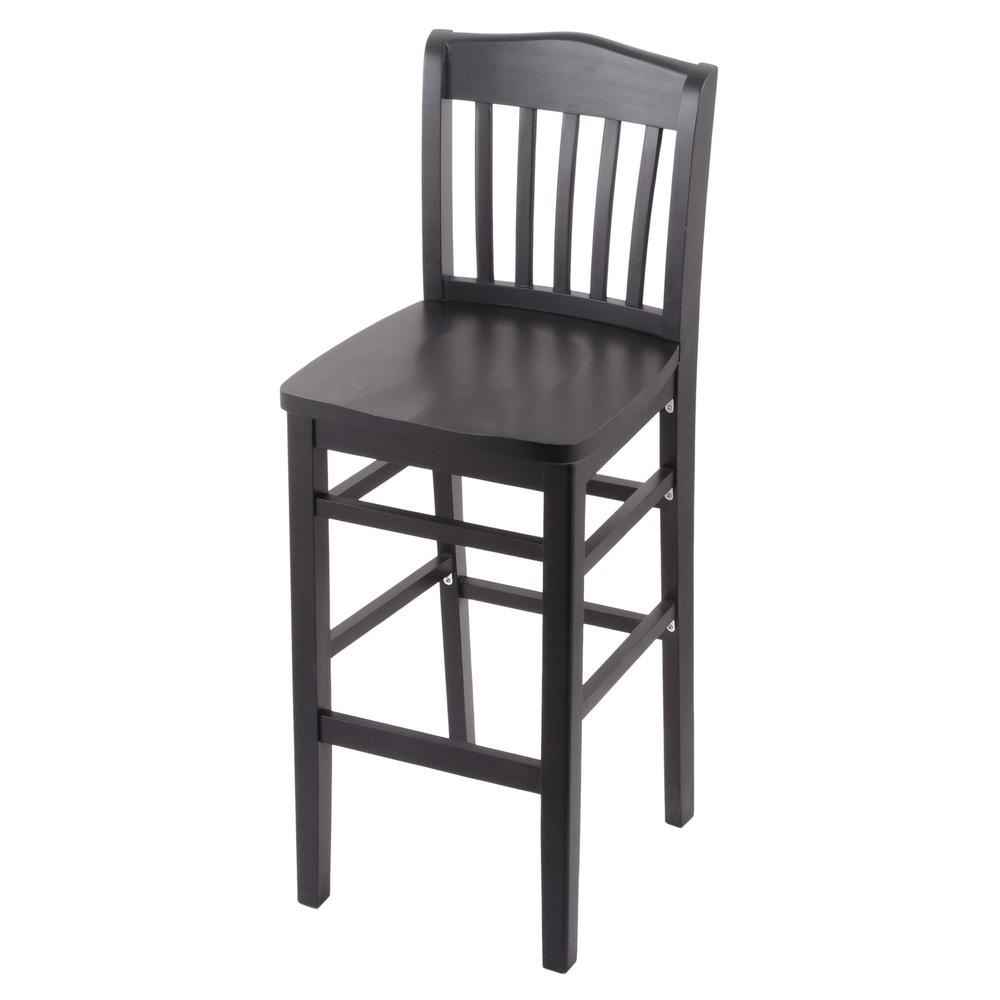 """3110 30"""" Bar Stool with Black Finish and a Black Seat. Picture 1"""