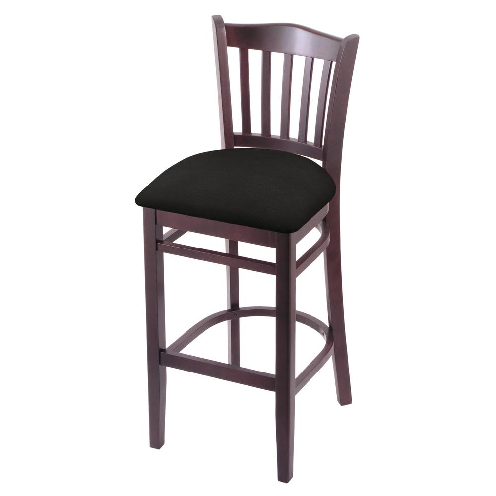 "3120 30"" Bar Stool with Dark Cherry Finish and Canter Espresso Seat. Picture 1"