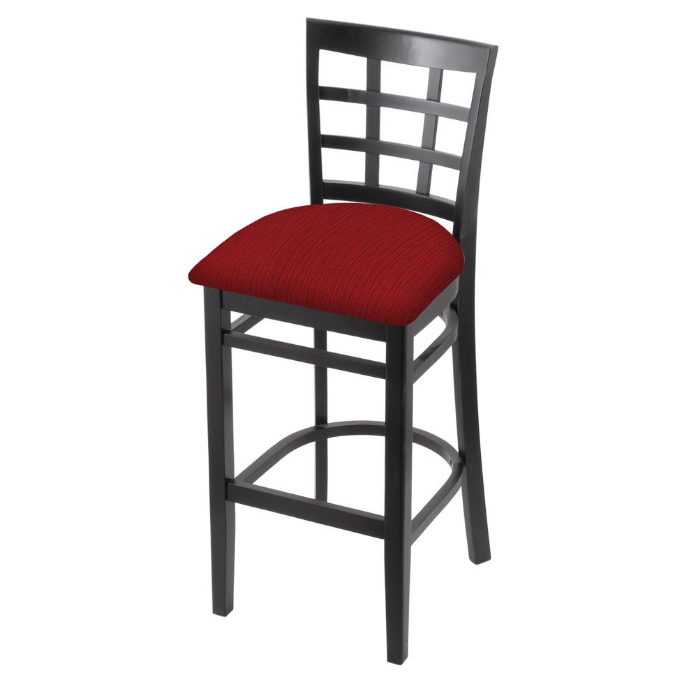 """3130 30"""" Bar Stool with Black Finish and Graph Ruby Seat. Picture 1"""