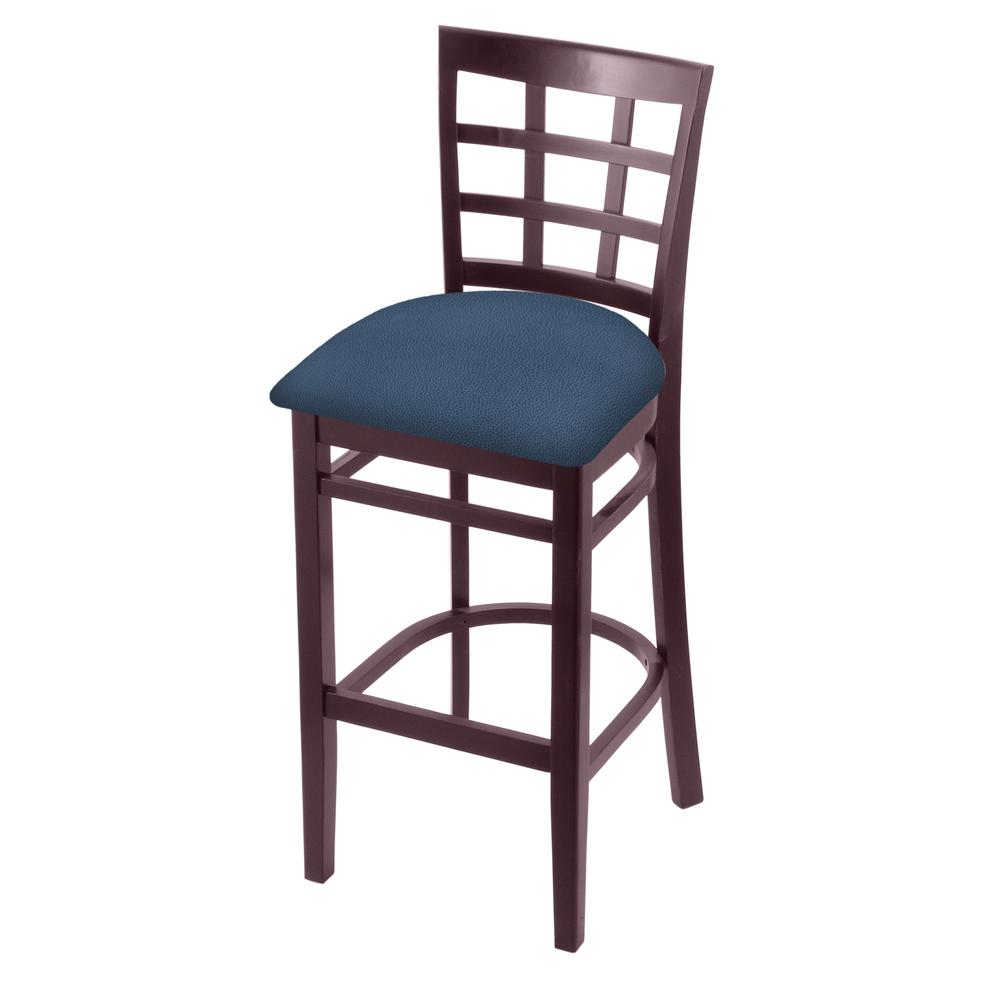 """3130 30"""" Bar Stool with Dark Cherry Finish and Rein Bay Seat. Picture 1"""