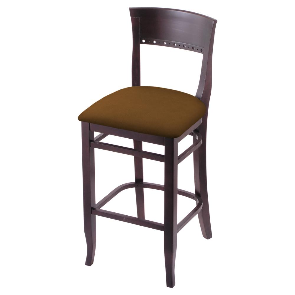 """3160 30"""" Bar Stool with Dark Cherry Finish and Canter Thatch Seat. Picture 1"""